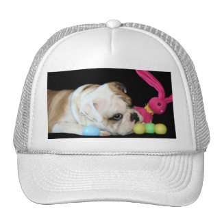 Easter Bulldog cap Trucker Hat