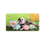 Easter - Bulldog - Delilah Address Label