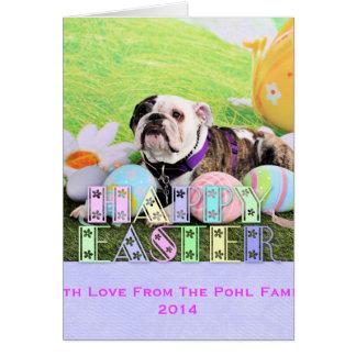 Easter - Bulldog - Delilah Card
