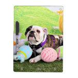 Easter - Bulldog - Delilah Dry Erase Board
