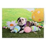 Easter - Bulldog - Delilah Greeting Card