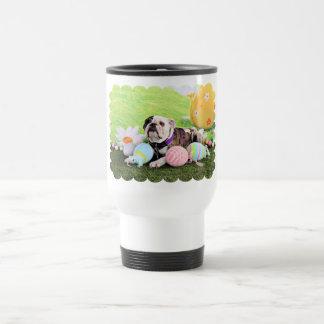 Easter - Bulldog - Delilah 15 Oz Stainless Steel Travel Mug