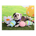 Easter - Bulldog - Delilah Postcard