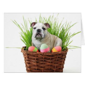 Easter Bulldog dog Card