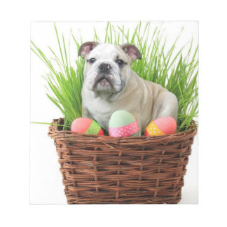 Easter Bulldog dog Notepad