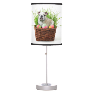 Easter Bulldog dog Table Lamp