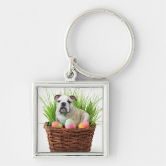 Easter Bulldog Key Chain