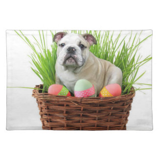 Easter bulldog placemat