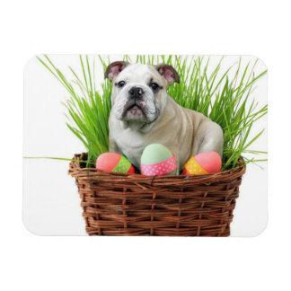 Easter bulldog rectangular photo magnet