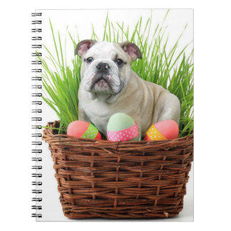 Easter bulldog spiral notebook