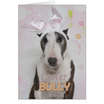 Easter Bully Terrier Card