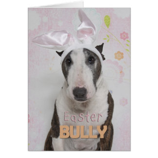 Easter Bully Terrier Greeting Cards