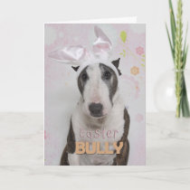 Easter Bully Terrier Holiday Card