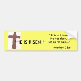 Easter bumper sticker car bumper sticker