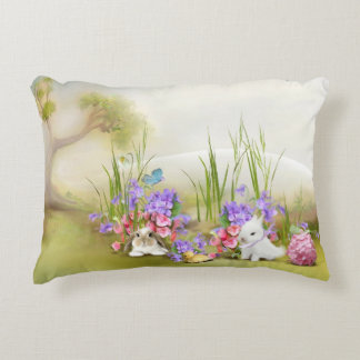Easter Bunnies Accent Pillow