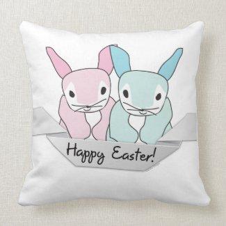 Easter Bunnies throwpillow