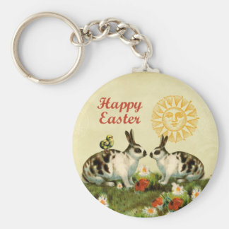 Easter Bunnies and Baby Chicks Keychain