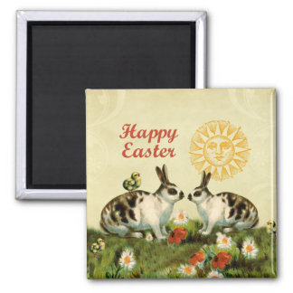 Easter Bunnies and Baby Chicks Fridge Magnets