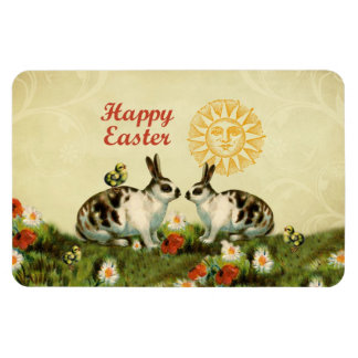 Easter Bunnies and Baby Chicks Rectangular Magnet