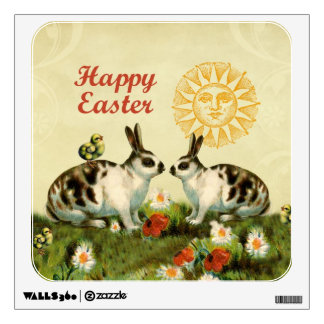 Easter Bunnies and Baby Chicks Room Sticker
