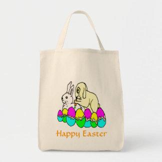 Easter Bunnies Grocery Tote Bag