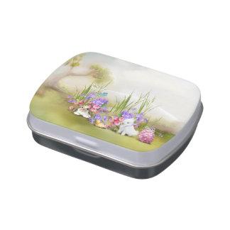 Easter Bunnies Candy Tin