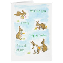 Easter Bunnies Card from All of Us