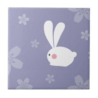 Easter Bunnies Ceramic Tile