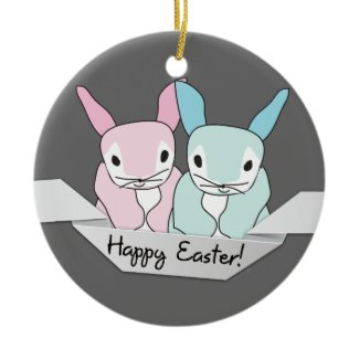 Easter Bunnies Ornament