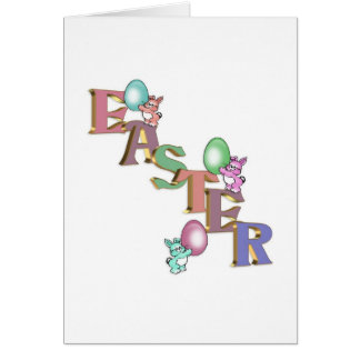Easter Bunnies cute greeting card