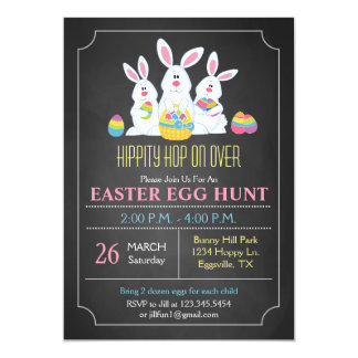 Easter Bunnies Easter Egg Hunt Invitation