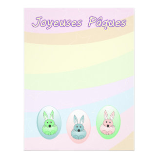 Easter Bunnies flyer - french