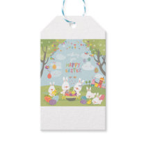 easter bunnies gift tags