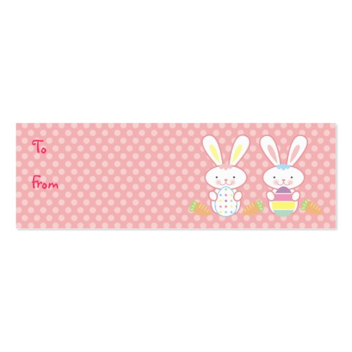 Easter bunny business card templates bizcardstudio easter bunnies gift tags business card template negle Images