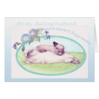 EASTER BUNNIES greeting FOR HUSBAND Card