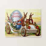 Easter Bunnies in Automobile Jigsaw Puzzle