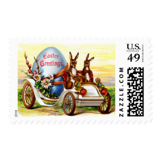 Easter Bunnies in Automobile Stamps