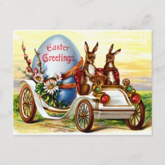 Easter Bunnies in Automobile