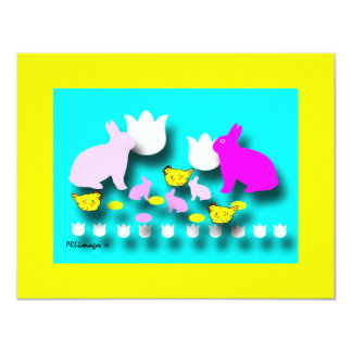 Easter Bunnies Invitation Card