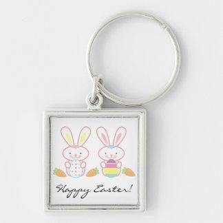 Easter Bunnies Keychain