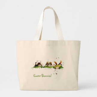 Easter Bunnies Large Tote Bag