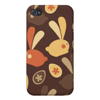 Easter Bunnies Modern Twist Design iPhone 4/4S Case
