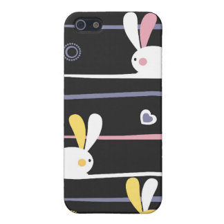 Easter Bunnies Modern Twist Design iPhone SE/5/5s Cover