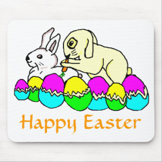 Easter Bunnies Mouse Pad