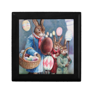 Easter Bunnies on Parade Jewelry Box
