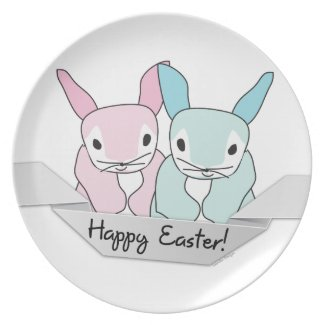 Easter Bunnies Party Plates