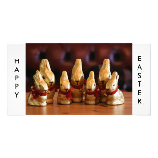 Easter Bunnies Personalized Photo Card