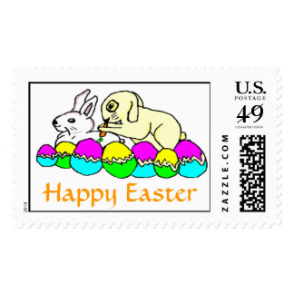 Easter Bunnies Postage Stamps