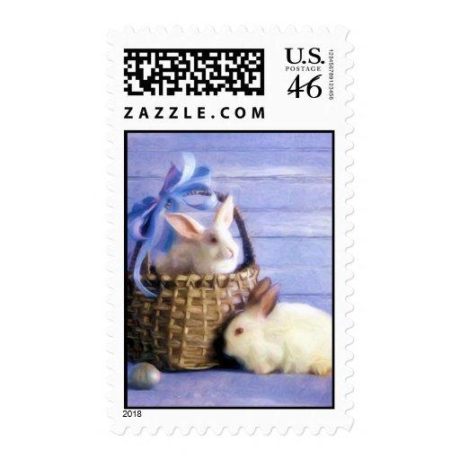 Easter Bunnies Postage Stamp