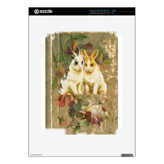 Easter Bunnies Rabbits Victorian Floral Rose Book Decal For The iPad 2